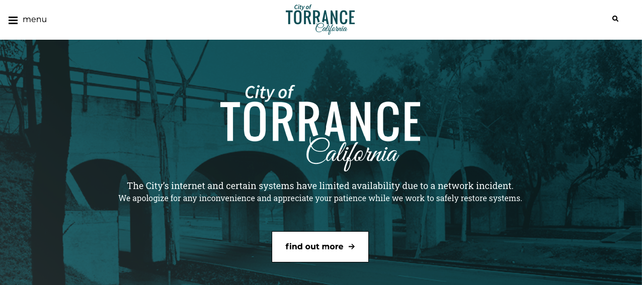 Temporary City of Torrance Website